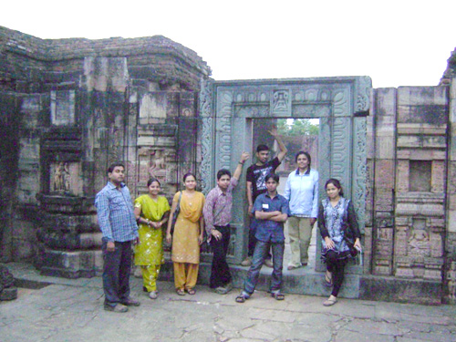 NTSPL Team is enjoying the evening At Ratnagiri: Buddhist monument